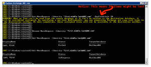 exchange server resue move request