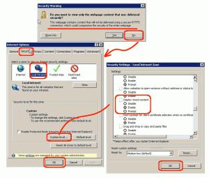 IE8 error message