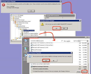 Exchange remove rightfax connectors
