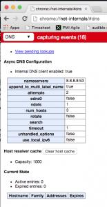 Chrome DNS cache